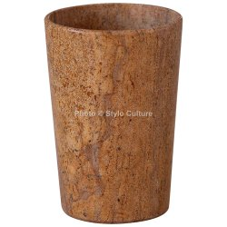 Charming Yellow Sandstone 3.5 Inchs Flower Vase