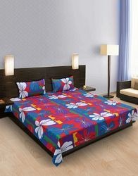 Floral Printed Cotton Bedsheet