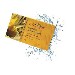 Mxofere Sandal Turmeric Soap, Packaging Type: Paper Box, Packaging Size: 75 G