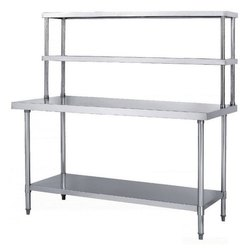 Work Table with Over Head Shelves