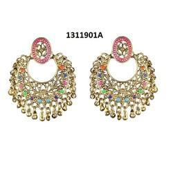 Jewelmaze Traditional Chandbali Earrings