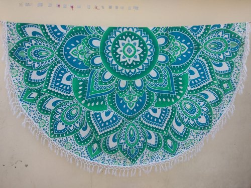 Beach Throw Mandala With Beautiful Print