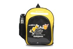 School Backpack Black and Yellow - Small Size & Bigger Size