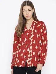 Bella Moda Full Sleeves Women Cotton Casual Tops
