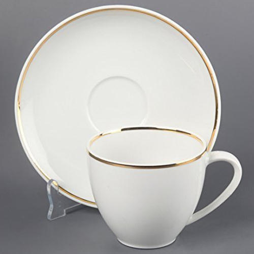 White Ceramic Tea Cup Plate Set For