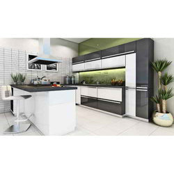 Italian Modular Kitchen, Warranty: 1-5 Years, Kitchen Cabinets