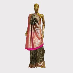 Black Brocked Silk Banarasi Saree