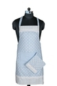 Blue Polka Dot Printed Apron
