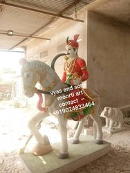 Goga Ji Maharaj Marble Statue