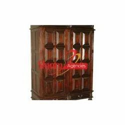 Dark Brown Marriage Wooden Cupboard