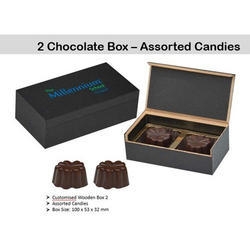 Printed Chocolate In Wooden Box