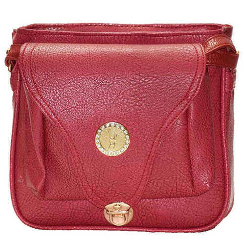 d26f1c1545 Groovy Women Red PU Sling Bag GC93 at Rs 399  piece