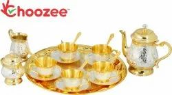 Brass 22 Pieces Tea Set