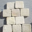 Handcut Tumbled Mint Sandstone Cobbles