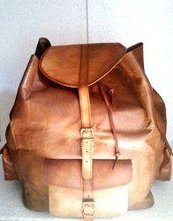 Vintage Leather Backpack Bag