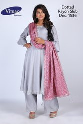 Fancy Kurti with Palazzo and Dupatta