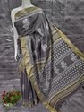 Hand Block Printed Linen Saree