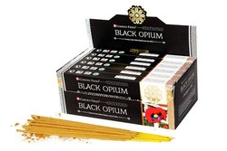 Black Opium Hand Rolled Masala Incense Sticks, Packaging Type: Box