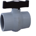 Gokul Short Handle Pp Solid Gray Valve, Size: 15 To 200mm