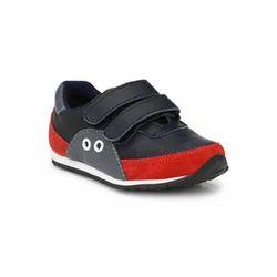 Tuskey Boys Blue Double Velcro Jogger Shoes