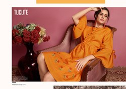 Krama Tucute 513 Series Designer  Handloom  Cotton Kurti