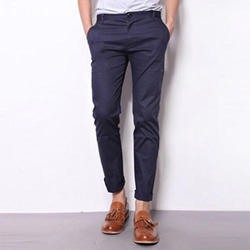 Navy Blue Chinos Men Formal Pant