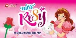 Rose Shape Madhur Miss Rosy - Rose Flavoured Jelly Pop, Packaging Type: Packet