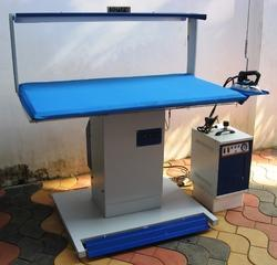 Blue Mild Steal Steam Press Table, For Ironing Clothes
