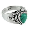 Stunning Natural Rich 925 Sterling Silver Ring