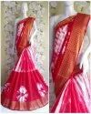 Bandhej cotton silk saree