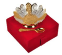 Brass Gold & Silver Lotus Shaped Bowl