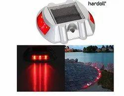 Hardoll 6 LED Solar Road Studs - Red Flashing