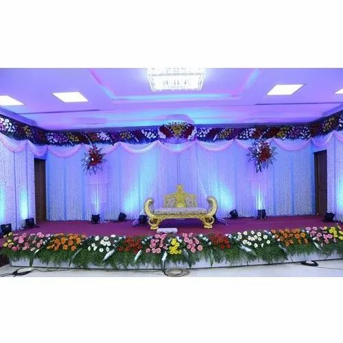 Marriage Stage Natural Flower Decoration In Jhalwa Allahabad New