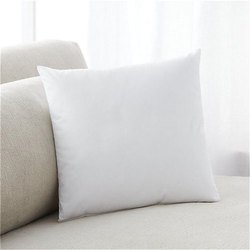 Plain White Polycotton 16 x 16 Inch Cushion