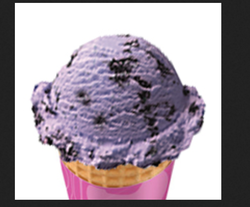 Black Currant Ice Cream Cone