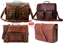 Leather Bag Vintage Men's Messenger