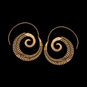 Bohemian Spiral Gypsy Ethnic Tribal Design Earrings