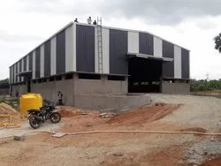 FRP + MS Prefabricated Industrial Shed