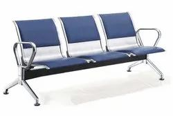 Stainless Steel Three Seater Hospital Chair
