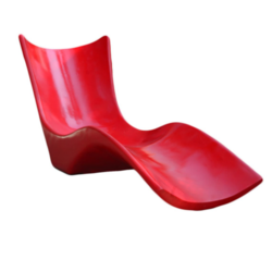 FRP Red Lawn Chair