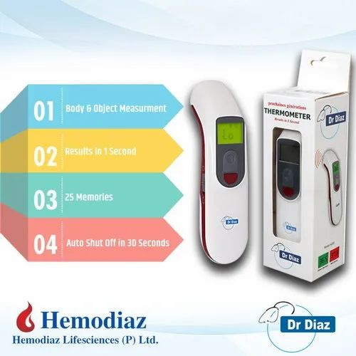Dr. Diaz Infrared Thermometer Hemodiaz, For Home