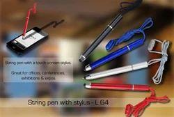 Black String Pens for Mobile Phone