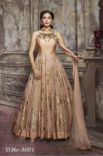 Saree Exotica Paper Silk Readymade Gown Rs 2295 Piece Saree