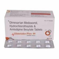 Olmesartan 40 mg,Amlodipine 5 mg & HCTZ 12.5 mg Tab