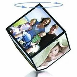 Printed Personalized 4 Inch Rotating Photo Cube