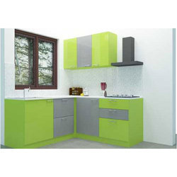Greena And Grey Stylish Modular Kitchen