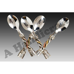 Silver Stainless Steel Spoon Set