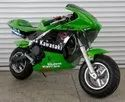 Green Sport Bike 49cc For Kids