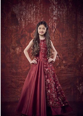 8c2325826478 98010 Kids Maroon Color Dress at Rs 1700  piece