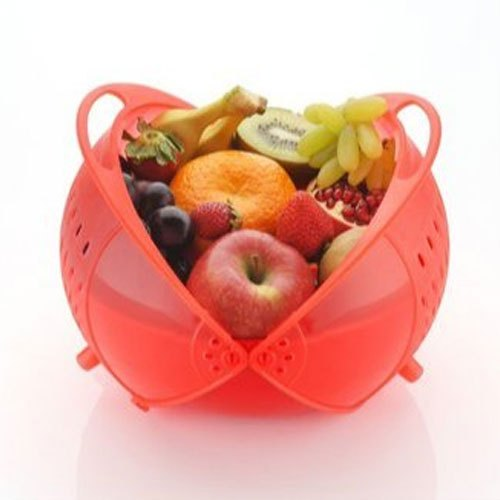 Red Plastic Fruit Bowl Packaging Type